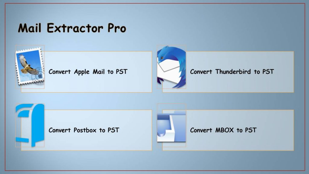 export thunderbird to pst