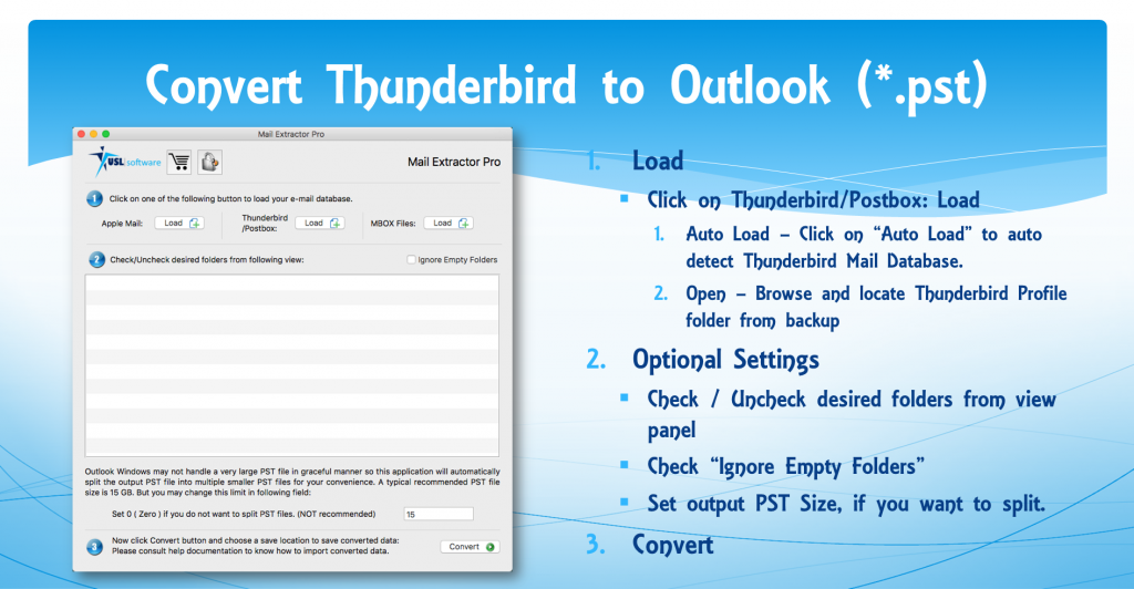 Thunderbird to Outlook Mail Tranfer